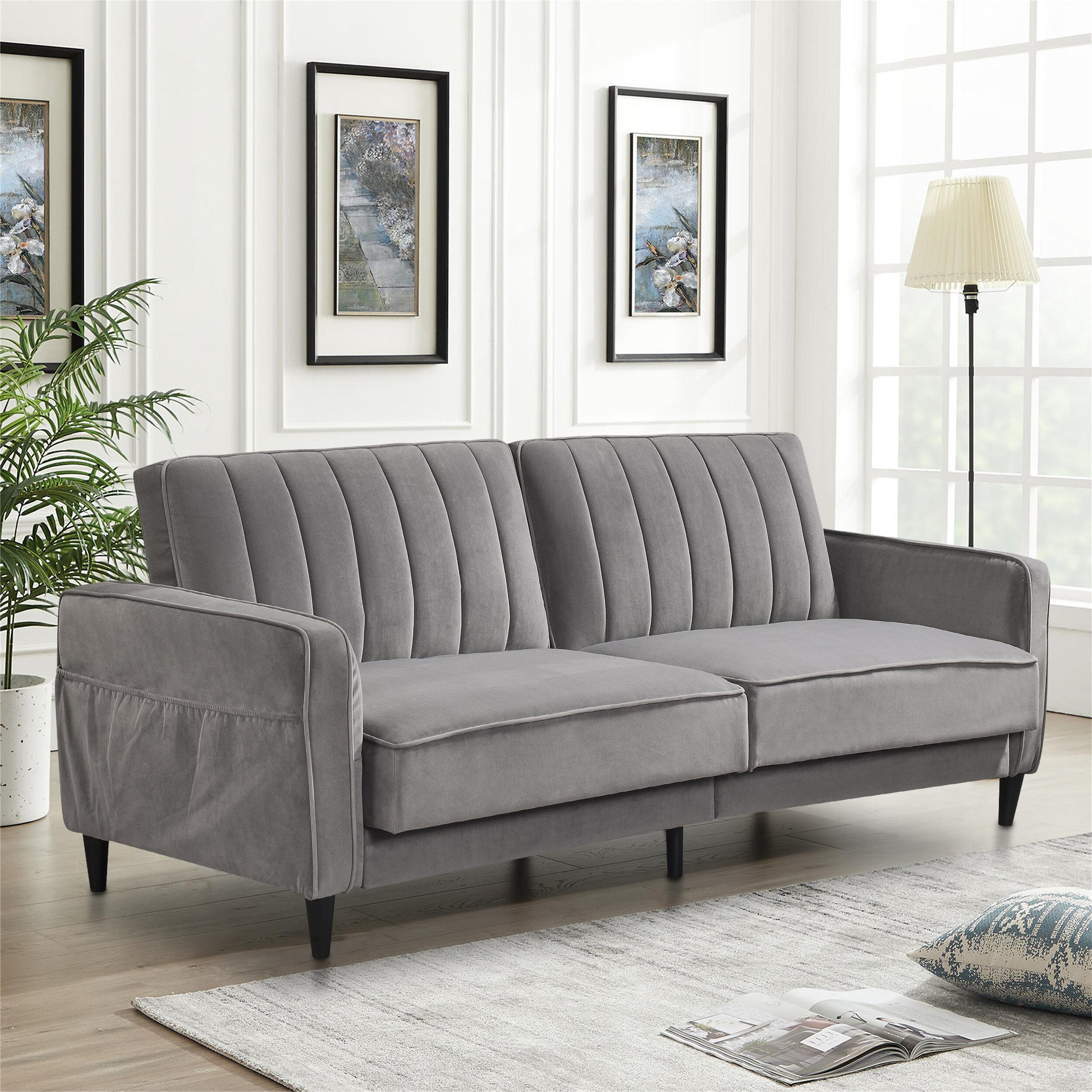 Corrigan Studio Gardin Twin Or Smaller 70 87 Split Back Convertible Sofa Wayfair