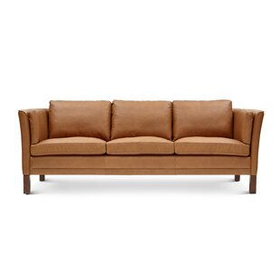 Theo Leather Sofa by 17 Stories