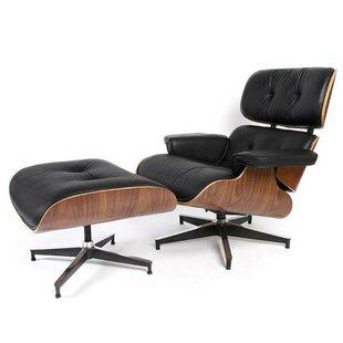 Corrigan Studio Chatham Square Swivel Lounge Chair and Ottoman