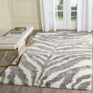 Laplaigne Shag Ivory/Gray Area Rug