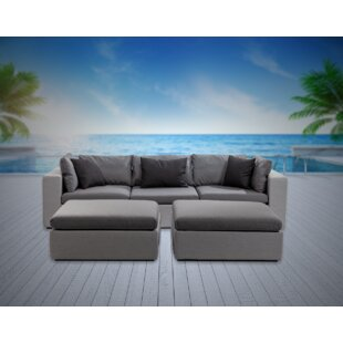 Malani 5 Piece Sunbrella Sofa Seating Group with Sunbrella Cushions
