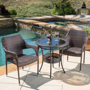 Highland Dunes Tudor City 3 Piece Bistro Set