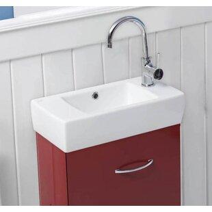 City Ceramic Rectangular Vessel Bathroom Sink with Overflow ByCeraStyle by Nameeks