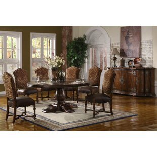 Burgundy Solid Wood Dining Table by Eastern Legends