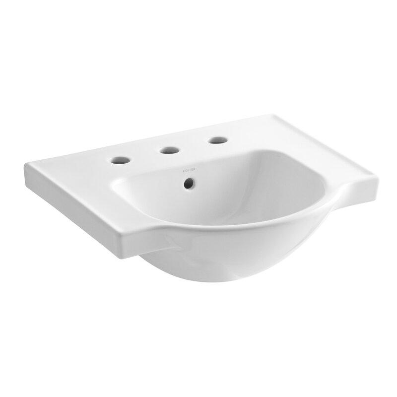 K 5247 1 0 Kohler Veer Ceramic 21 Pedestal Bathroom Sink With