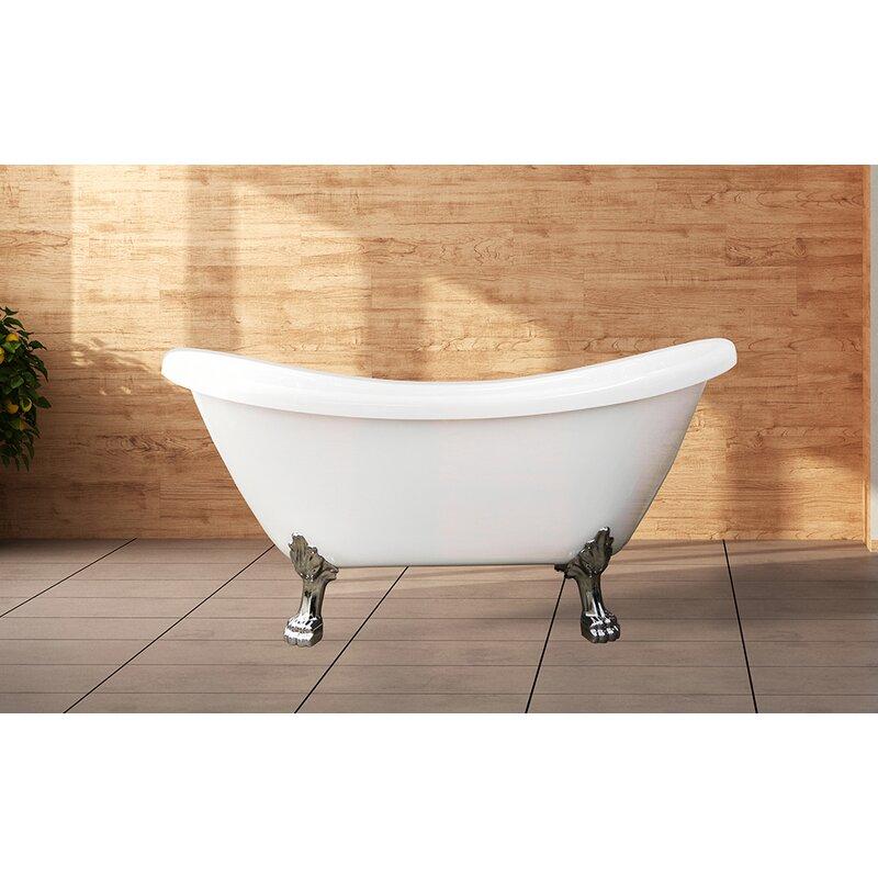 Castellousa Daphne Clawfoot 60 X 28 Clawfoot Soaking Bathtub