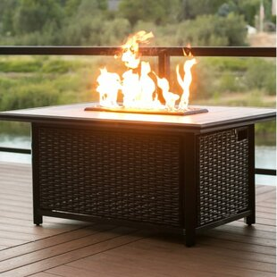 Chat Height Aluminum Gas Fire Pit Table
