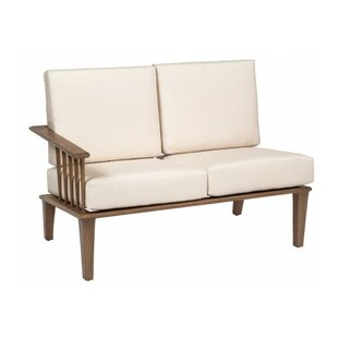 Woodard Van Dyke Left Arm Facing Loveseat Sectional Piece with Cushions