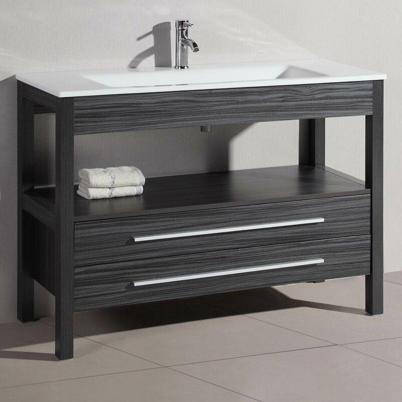 "Belvederebath 48"" Single Modern Bathroom Vanity"