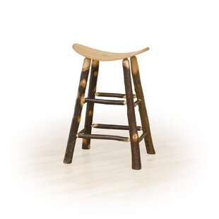 Toland Hickory 30 Saddle Stool Millwood Pines