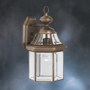 Affordable Janette Embassy Row 1-Light Outdoor Wall Lantern By Darby Home Co