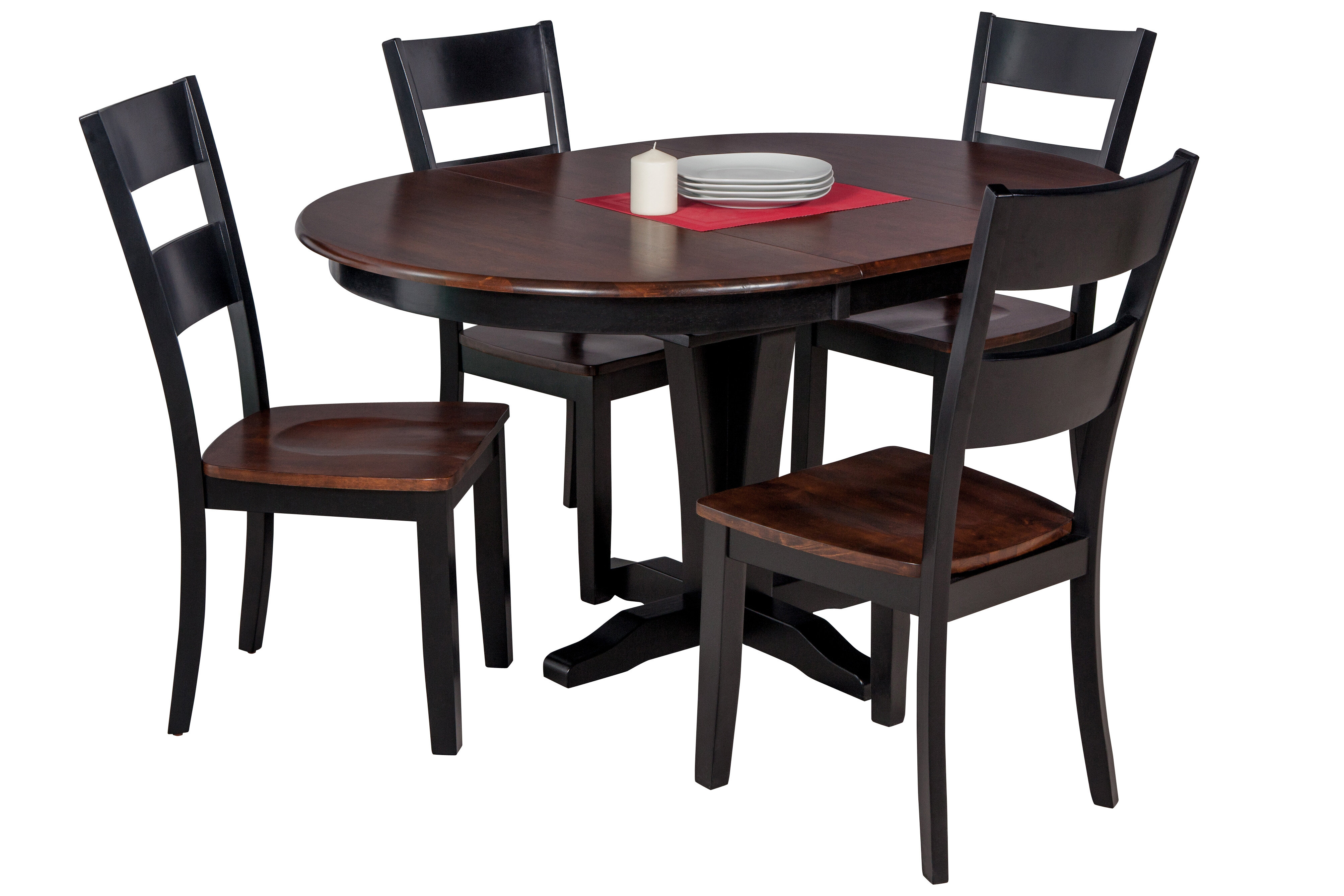 Maryrose 5 Piece Solid Wood Dining Set With Erfly Leaf Table