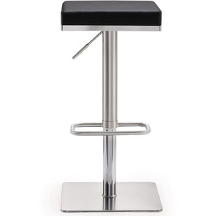 Hartzog Steel Adjustable Height Bar Stool by Orren Ellis