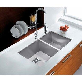 32 L x 18 W Undermount  Kitchen Sink ByAKDY