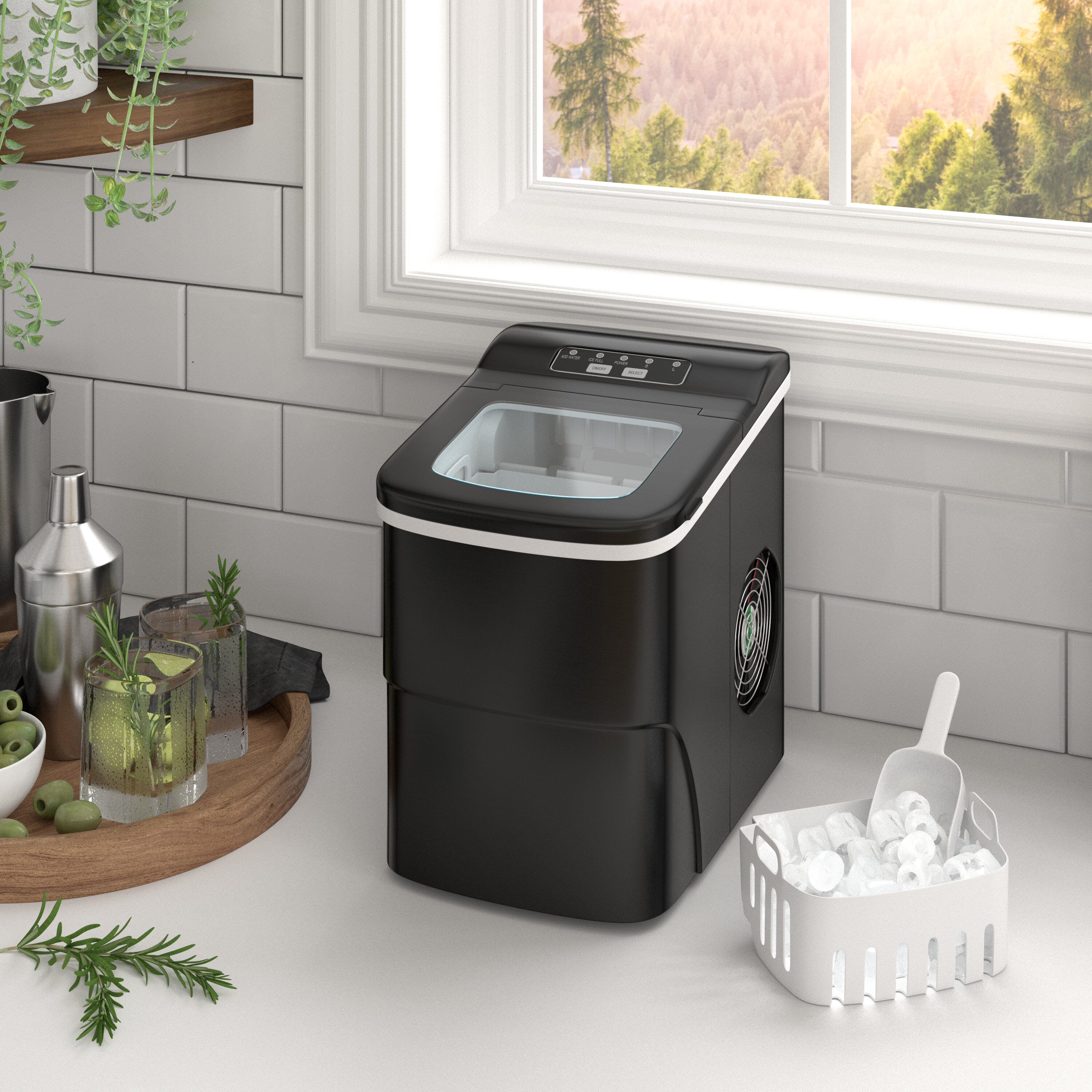 Prep Savour Countertop 26 Lb Daily Production Portable Clear Ice Maker Reviews Wayfair
