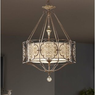 Villeroy 3-Light Lantern Chandelier by Lark Manor