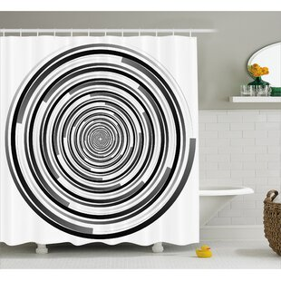 Bima Abstract Art Spirals Single Shower Curtain