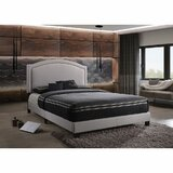 Melway Queen Upholstered Low Profile Four Poster Bed by Red Barrel Studio®
