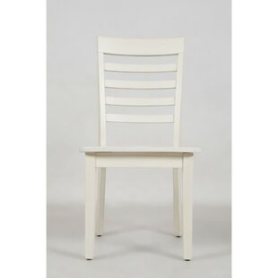Alfred Ladder Back Solid Wood Dining Chair (Set of 2) Longshore Tides