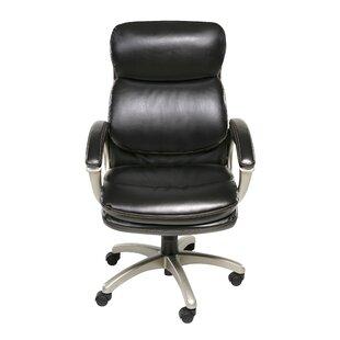 Orren Ellis Joette Plush High-Back Executive Chair with Padded Armrests
