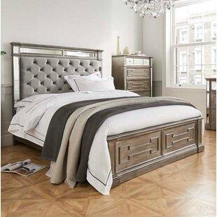 Free S&H Jon Upholstered Bed Frame