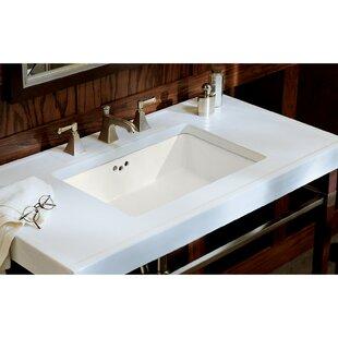Kathryn Ceramic Rectangular Undermount Bathroom Sink with Overflow Kohler
