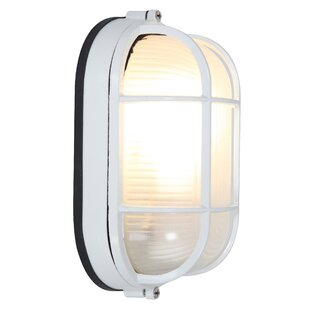 Flintwood LED Outdoor Bulkhead Light by Beachcrest Home