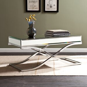 Jeannie Mirrored Coffee Table by Willa Arlo Interiors