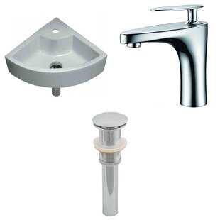 Comparison Specialty Ceramic Specialty Vessel Bathroom Sink with Faucet By American Imaginations