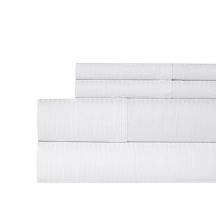 Highland Dunes Naida Stripe 400 Thread Count 100% Cotton Sheet Set