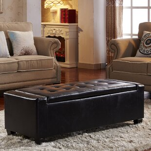 NOYA USA Contemporary Leather Storage Bench