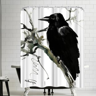 Suren Nersisyan Raven Single Shower Curtain