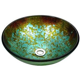 Check Prices Stellar Series Glass Circular Vessel Bathroom Sink By ANZZI