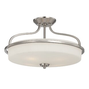 Three Posts Stewartstown 2-Light Semi-Flush Mount