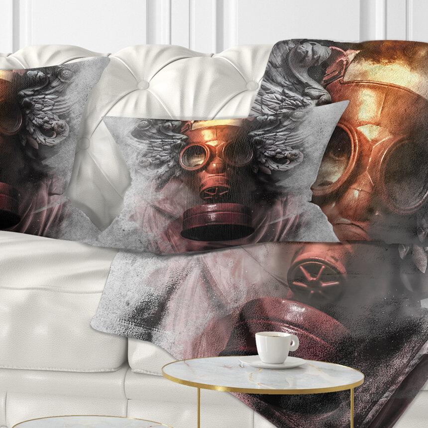 East Urban Home Abstract Portrait Toxic Man In Mask Lumbar Pillow Wayfair