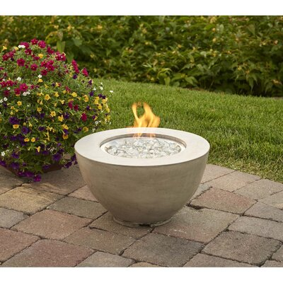 Cove Concrete Propane/Natural Gas Fire Pit Friedrich