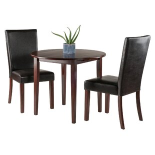 Alcott Hill Kendall Traditional 3 Piece Drop Leaf Dining Set