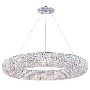 Lowenthal 18-Light Crystal Chandelier by Rosdorf Park