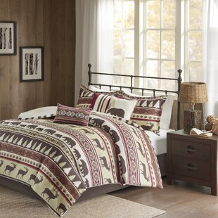 amazon in mountain wolves comforter bag wolf cabin piece a home sets bed com dp full lodge set