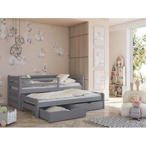 Einzelbett Hodge mit Ausziehbett Harriet Bee Größe: 90 x 200 cm | Schlafzimmer > Betten > Funktionsbetten | Harriet Bee