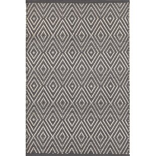 Diamond Hand-Woven Graphite/Ivory Indoor/Outdoor Area Rug