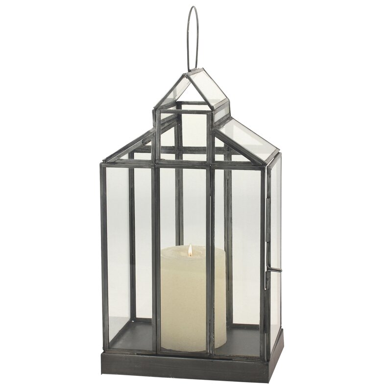 Gracie Oaks Donna Glass Terrarium Lantern Wayfair Ca