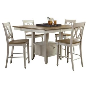 Cher 5 Piece Counter Height Dining Set by Rosalind Wheeler Savings