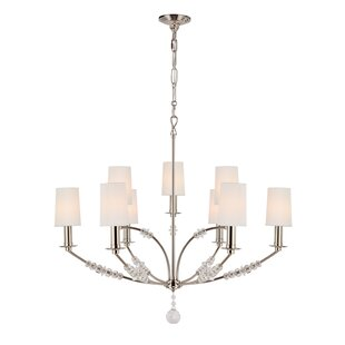 Crystorama Mirage 9-Light Shaded Chandelier