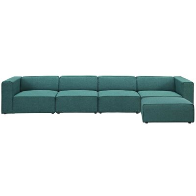Brayden Studio Chaudhry Sectional Upholstery: Teal