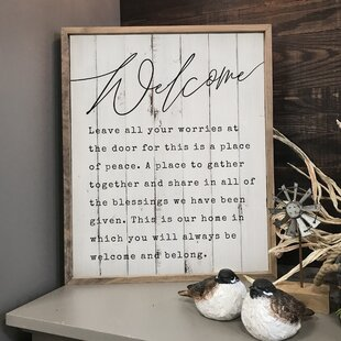 7ab048a8659  This Is Our Home  Framed Textual Art on Wood