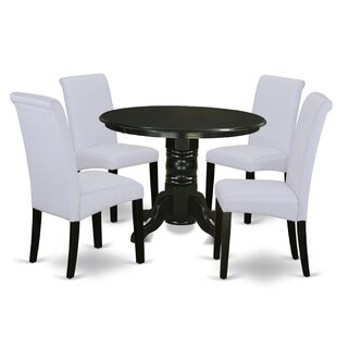 Paquet Small Table 5 Piece Solid Wood Dining Set by Charlton Home Design