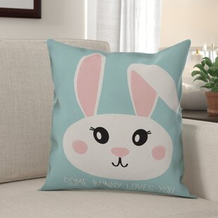 Kenosha Some Bunny Loves You Throw Pillow