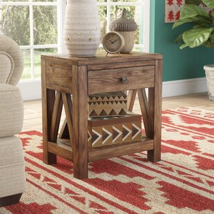 Neace Farmhouse Style 1 Drawer End Table by Loon Peak