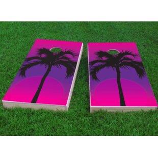 Custom Cornhole Boards Palms at Night Cornhole Game (Set of 2)